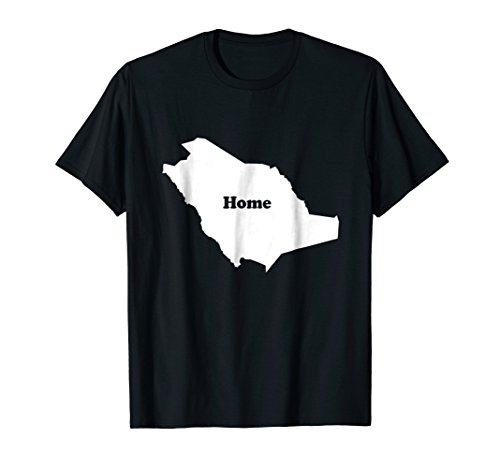 Saudi Arabia Home Map Saudi Arabia Shape Funny T-Shirt