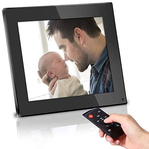 BSIMB Digital Photo Frame 8 Inch Digital Picture Frame 1024x768(4:3) High Resolution LCD Screen Music Video Player/Alarm/Calendar with Remote Controler Black(M03)