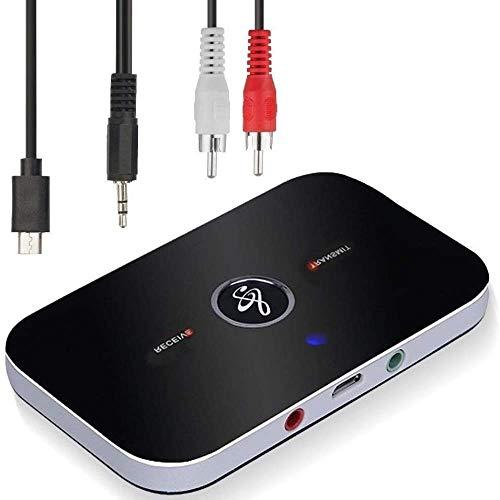 Ozvavzk adapter voor Bluetooth-ontvanger, Bluetooth zender 5.0, Audio 2 in 1 met audio-uitgang 3,5 mm, Audio RCA