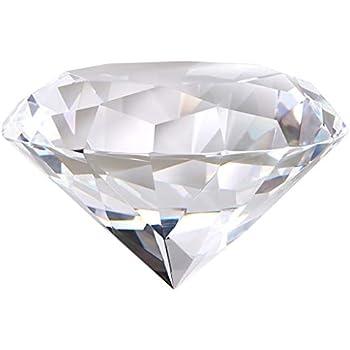 Big 80mm Crystal White Paperweight Cut Glass Large Giant Diamond Jewel Aspect