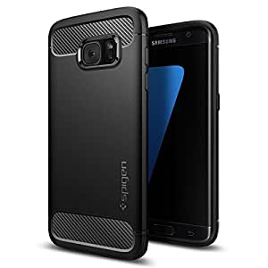 Galaxy S7 Edge Case, Spigen® [Rugged Armor] Resilient [Black] Ultimate protection from drops and impacts for Samsung Galaxy S7 Edge (2016) - (556CS20033)