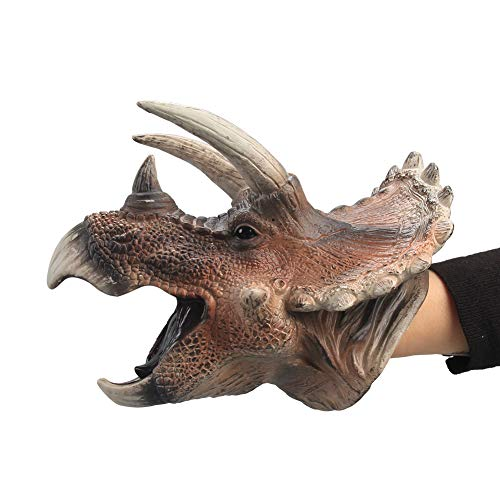 Kala-Kala Soft Rubber Realistic Dinosaur Hand Puppets Role Play Toy for Kids's Party Favors Supplies (B) -