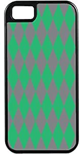 iPhone 4 Case iPhone 4S Case Cases Customized Gifts Cover Diamond Pattern Design Light Purple and Soft Green - Ideal Gift