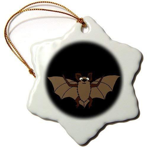 (Ornaments to Paint _ Cool Flying Bat Art Snowflake Ornament, Porcelain,)