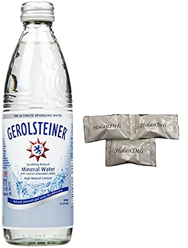 (pack of 6) Gerolsteiner Sparkling Natural Mineral Water 11.2fl oz. Includes Exclusive HolanDeli Chocolate Mints. - Exclusive Water