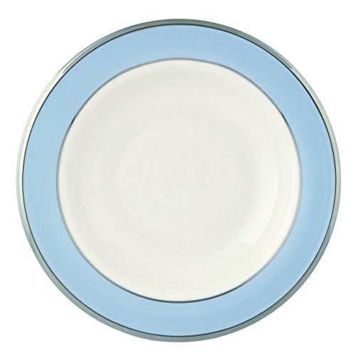 Lenox Blue Frost Platinum Banded Ivory China Pasta Bowl/Rim (Fine China Rimmed Soup Bowl)