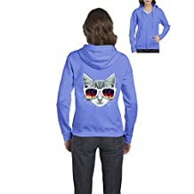 Ugo Kitty with Sunglasses Love Pets Dogs Cats Cat Lovers Full-Zip Women's Hoodie