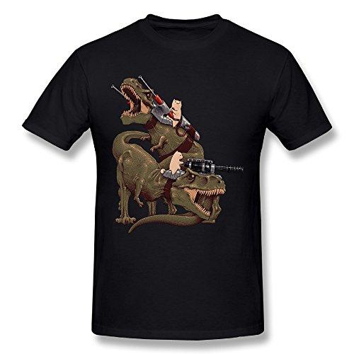 cats-riding-t-rexs-boys-black-short-sleeve-t-shirt