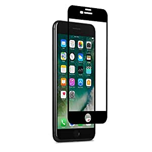 Moshi IonGlass Atomically-Strengthened Glass Screen Protector for iPhone 7 Plus, Black