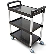 New Star Heavy Duty Utility Cart Bus Cart 250 lbs Load 32x16x38-inch Black