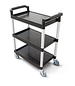 New Star 1 Pc Heavy Duty Utility Cart Bus Cart 350 Lbs Load 3 Tier Cart
