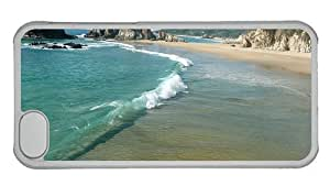 Hipster customize iPhone 5C cover beachside PC Transparent for Apple iPhone 5C