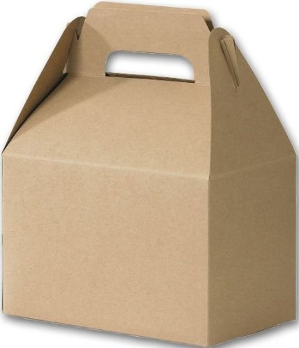 Bags & Bows by Deluxe 250-080405-8 Kraft Gable Boxes - Case of 100