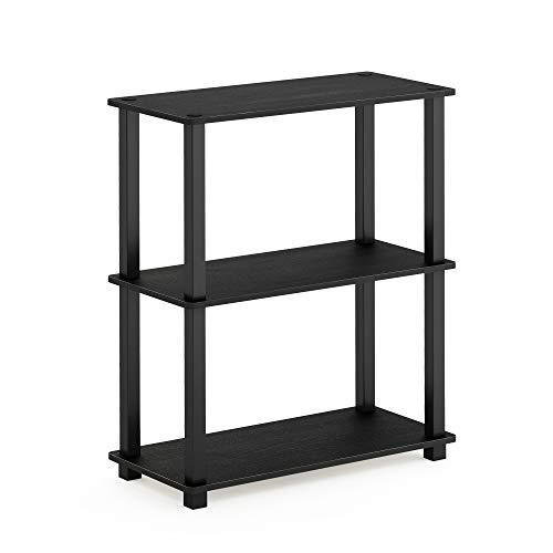 (Furinno 18025AM/BK Turn-S-Tube 3-Tier Compact Multipurpose Shelf Display Rack, Square,)