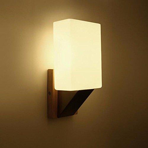 Fine Art Lamps Metal Sconce - Industrial Vintage Wall Sconces Solid Wood fine Art Wall lamp Bedroom Bedside lamp Hotel Room.