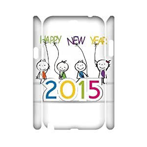 Happy New Year 2015 Cheap Custom 3D Cell Phone HTC One M8 , Happy New Year 2015 HTC One M8 3D Case