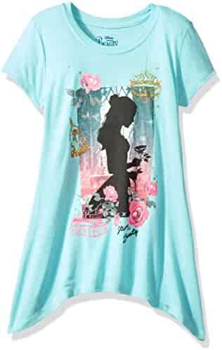 Disney Big Girls' Beauty and the Beast Belle High Low Fashion Top