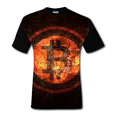 IDJC DSE Bitcoin is on Fire T-shirt Fashion Trend Design Print For Men tee shirt