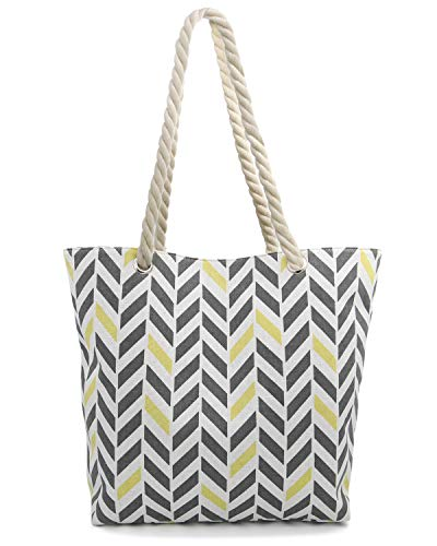 Linen Tote Bag for Shopping Camping School Picnic Beach Handles Canvas Pocket ()