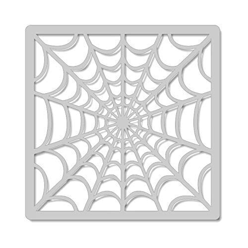 Craft and Cookie Stencil- Spider Web, 5 Inch Image on 5.5 Inch Border -