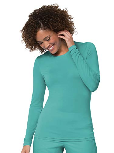 ong Sleeve Under Scrub Tee Teal Blue S ()