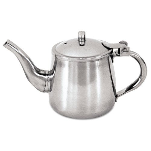 Adcraft Stainless Steel Gooseneck Teapot, 10 oz. - Single unit included.