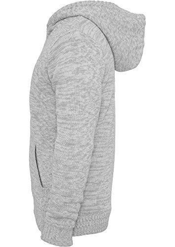 Para Urban Classics wht Winter Multicolor Knit Hombre 00230 gry Capucha Zip Hoody YYrxwU