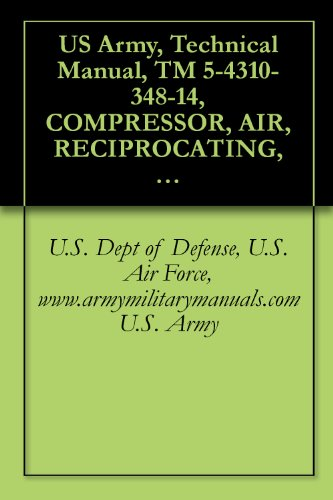 US Army, Technical Manual, TM 5-4310-348-14, COMPRESSOR, AIR, RECIPROCATING, ELECTRIC MOTOR DRIVEN, RECEIVER-MOUNTED, 2 HP, 5 CFM, 175 PSI, (INGERSOLL-RAND ... military manauals, special forces