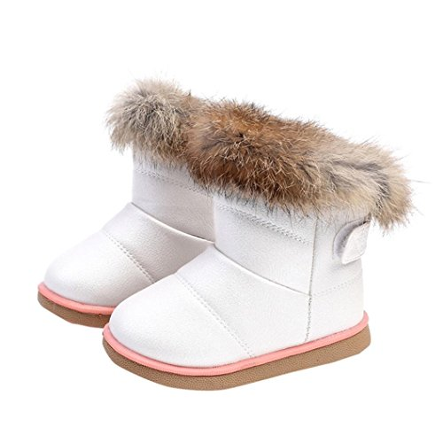 Muxika Winter Baby Girl Cute Waterproof Warm Leather Shoes Martin Boot Outwear (Age:1-2 Years, (Baby Girls Boots)