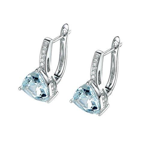 Women Earrings 1 Pair Bright Chain Elegant Fashion Ear Stud Rhinestone Crystal ()