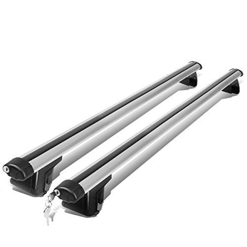 "48"" Adjustable Pair of Aluminum Top Cross Bar Cargo Roof Racks+Keys Lock"