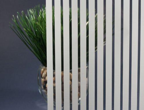 White Vertical Venetian Stripe, Decorative, Privacy, Window Film (36