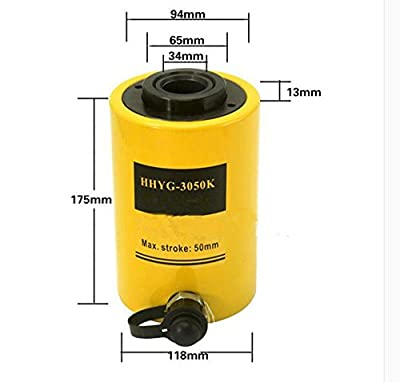 30 Tons Industrial Hydraulic Jack Hydraulic Hollow Plunger Jack Hollow Plunger Ram Hydraulic Hollow Cylinder