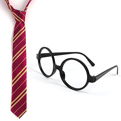 Landisun Tie and Novelty Glasses Halloween Cosplay -