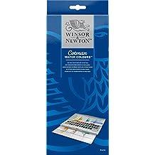 40 color Windsor & Newton cot Man watercolor half pan (45 pieces) set studio set (japan import)