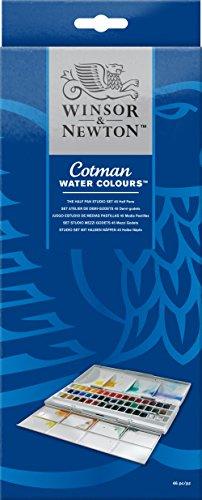 -[ Winsor & Newton Cotman Water Colour Paints - 45 Half Pans  ]-