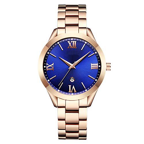 Gold Watch Women Watches Ladies Creative Steel Women's Bracelet Watches Female Clock Relogio Feminino Montre Femme,Rose ()