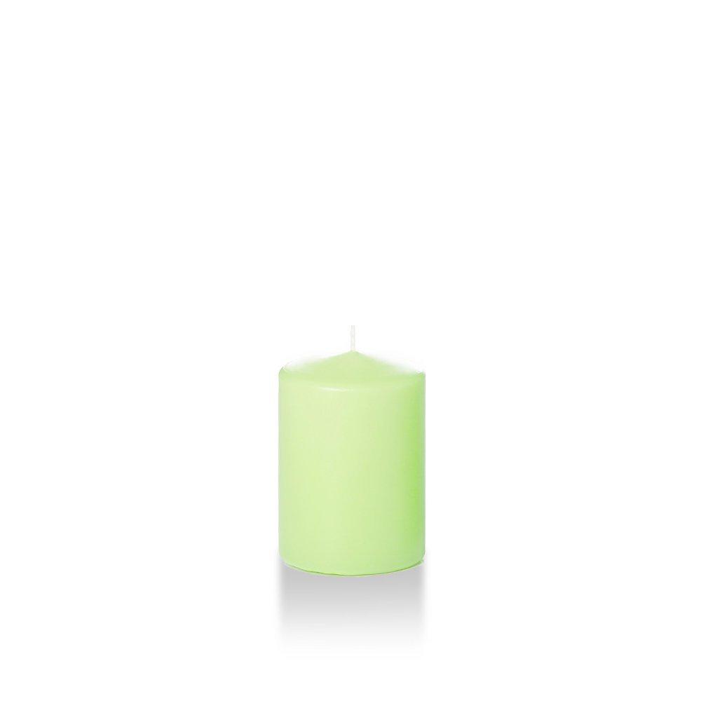 Yummi 3 x 4 Light Gray Round Pillar Candles - 3 per pack Neo-Image Candlelight Ltd AX-AY-ABHI-88316