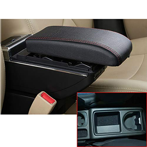 2010 Black Usb - MyGone for 2009-2017 Volkswagen Tiguan Car Accessories Center Console Armrest Box,Oversized Storage,Provide Rest Place for The arm,with 7 USB Ports,Cup Holder,Removable Ashtray,Black
