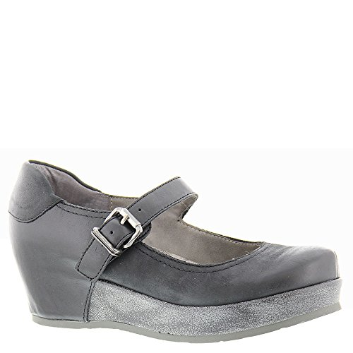 Flatform Jane Women's Shoes Leather Mary OTBT Black Aura UqSIFnwg