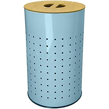 Amazon.com: Luz azul acero inoxidable cesta de colada Cesta ...