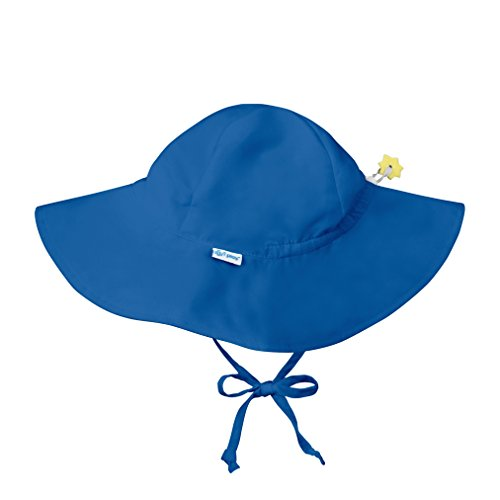 (i play. Baby Solid Brim Sun Protection Hat, Royal Blue, 0-6)