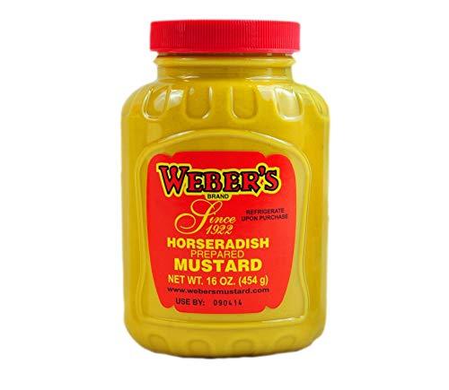 Webers, Mustard Horseradish, 16 Ounce