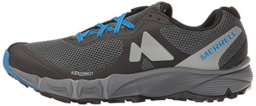 Merrell Mens Agility Charge Flex Lightweight Trail Running Shoes Black/Blue