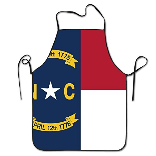 Unisex Kitchen Aprons North Carolina State Flag Chef Apron Cooking Apron Barbecue Aprons