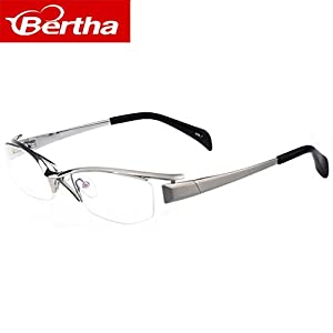 Bertha Eyeglasses Online Shopping Business Titanium Frame 1107 (Smoke)