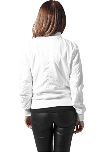 Ladies Mujer blanco Jacket Light Chaqueta Bomber Urban Classics CvwgqgxO