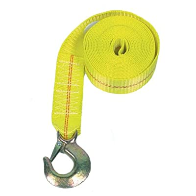 Rod Saver Heavy Duty Replacement Winch Strap (25 Feet, Yellow): Automotive