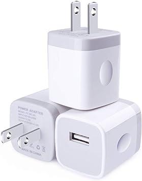 Amazon.com: USB cargador de pared, Borz USB cargador de ...