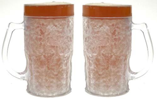 (Beer Mugs for Freezer, Beer Mug, Freezer Mug, Beer Mugs - 13.5 oz, Set of 2, Clear)